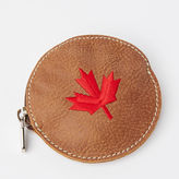 Roots Maple Leaf Coin Pouch Tribe