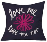 "DENY Designs Leah Flores Love Me Love Me Not Throw Pillow Pink (20"" x 20"