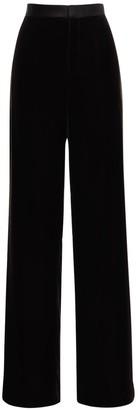 Ralph Lauren Collection Velvet Wide Leg Pants