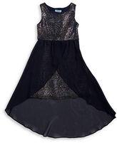 Rare Editions Girls 7-16 Sparkle Hi-Lo Dress