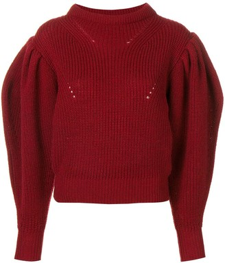 Isabel Marant Billow Sleeve Cropped Sweater