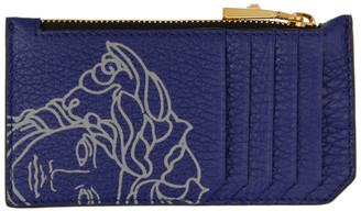Versace Blue Pop Medusa Long Zip Card Holder