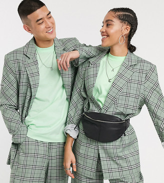 Collusion Unisex blazer in check