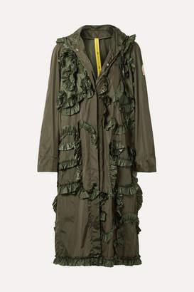 Simone Rocha Moncler Genius - 4 Hooded Ruffled Shell Jacket - Army green