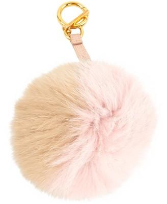 Fendi Pompon Beige Fox Bag charms