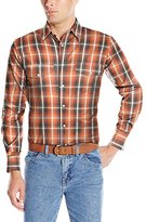 Wrangler Men's Wrinkle Resist Western Long Sleeve Two Pocket Snap Woven Shirt