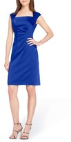 Tahari Women's Stretch Satin Sheath Dress