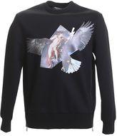 Neil Barrett Printed Black Jersey Sweater
