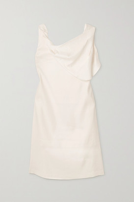 AAIZÉL Draped Linen-blend Dress