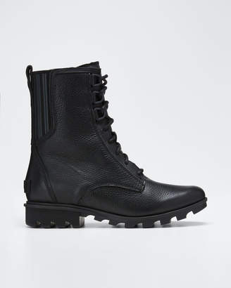 Sorel Phoenix Waterproof Leather Combat Boots