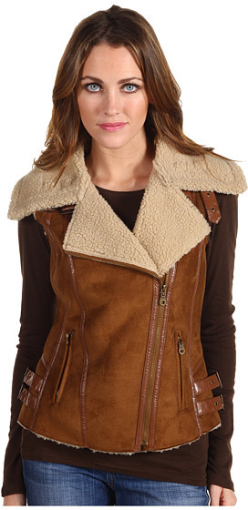 Members Only Charlize Faux Shearling Hunting Vest