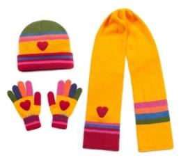 Kidorable Big Girl Heart Knitwear Set
