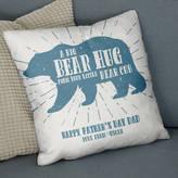 The Drifting Bear Co. 'Bear Hug From Your Bear Cub' Faux Suede Cushion