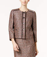Nine West Tweed 3/4-Sleeve Blazer