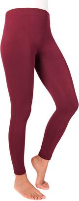 Muk Luks Women's Leggings BURGUNDY - Burgundy Leggings - Women
