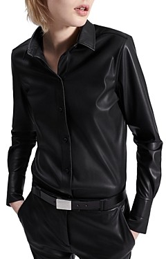 Barbara Bui Light Faux Leather Shirt
