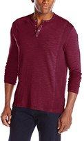 Calvin Klein Jeans Men's Long Sleeve Garment Dye Slub Henley Shirt