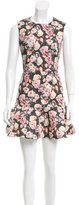 Markus Lupfer Floral Print Mini Dress