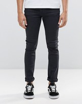 Cheap Monday Tight Skinny Jeans In Washed Black
