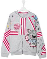 Kenzo Tiger zipped hoodie - kids - Cotton/Polyester - 14 yrs