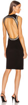 Norma Kamali for FWRD Studded Open Back Dress in Black   FWRD