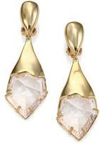 Alexis Bittar Miss Havisham Liquid Crystal Jagged Broken Glass Clip-On Drop Earrings
