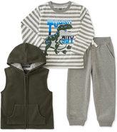 Kids Headquarters Kid Headquarters Little Boys' 3-Pc. Hooded Vest, T-Shirt & Pants Set