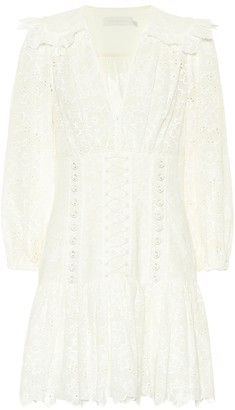Zimmermann Honour Corset lace minidress