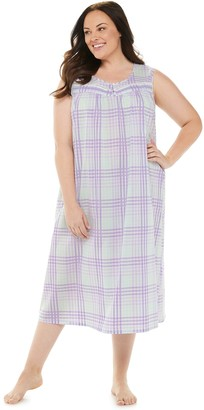 Croft & Barrow Plus Size Pintuck Yoke Nightgown