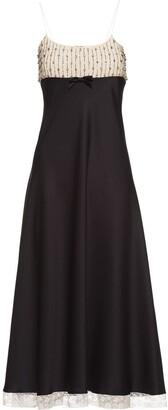 Miu Miu Embellished Panelled Slip Dress