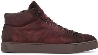 Santoni Distressed High-Top Sneakers