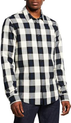 Scotch & Soda Men's Check Plaid Regular Fit Button-Down Shirt