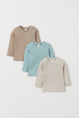 H&M 3-pack Ribbed Jersey Tops