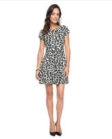Juicy Couture Glam Rock Cheetah Printed Ponte Dress