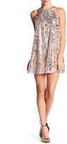 City Triangles Sequin Sleeveless Halter A-Line Dress