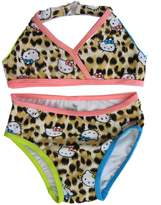 Hello Kitty Little Girls Brown Leopard Spot 2Pc Bikini Swimsuit