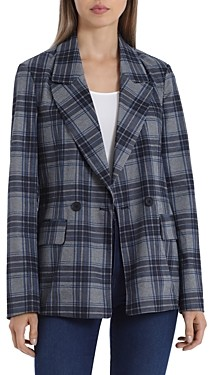 Bagatelle Plaid Double Breasted Blazer