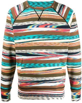 Missoni Abstract Striped Pattern Sweatshirt