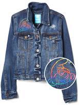 GapKids | The Smurfs embroidered denim jacket