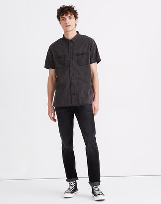 Madewell Denim Perfect Short-Sleeve Shirt in Cutler Wash