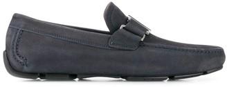 Salvatore Ferragamo Suede Buckle Loafers