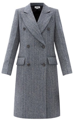 Victoria Beckham Double-breasted Wool-blend Wool Tweed Coat - Navy Multi