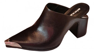 Alexander Wang Black Leather Mules & Clogs