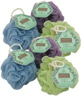 EcoTools Ecopouf Mini Bath Sponge, Assorted Colors, (Pack of 6)