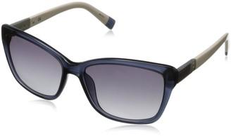 Furla Women's SU4853-W47 Square Sunglasses Dark Blue & Beige 56 mm
