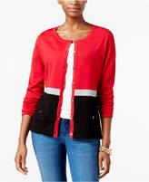 Karen Scott Colorblocked Cardigan, Created for Macy's