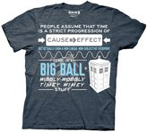 Doctor Who Wibbly Wobbly Quote Adult T-Shirt (Adult)