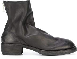 Guidi back zip-up ankle boots