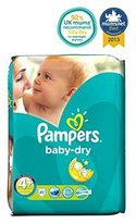 Pampers Baby-Dry Nappies Size 4+ Essential Pack - 41 Nappies - Pack of 2