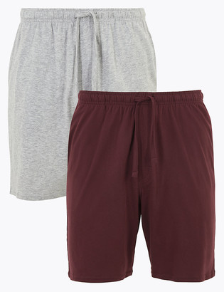 Marks and Spencer 2 Pack Pure Cotton Jersey Pyjama Shorts